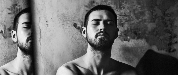 Mann Porträt schwarz-weiß