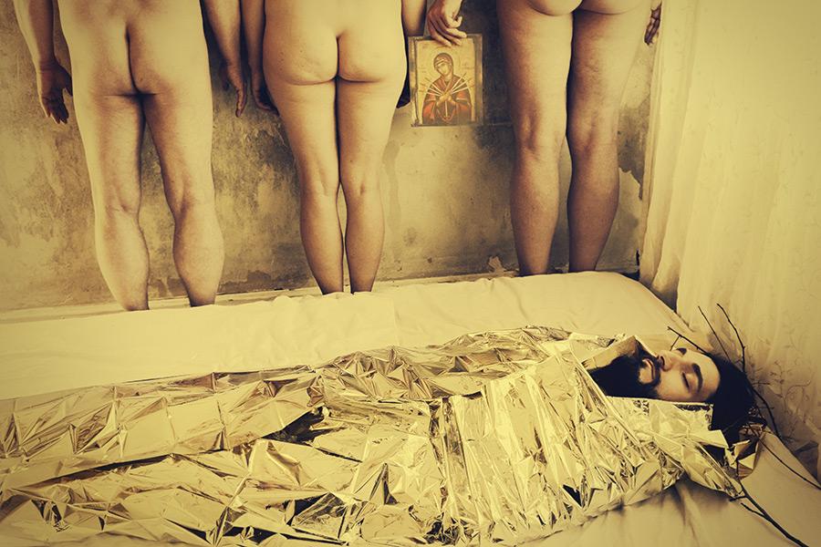Sieben Schmerzen, Aktfotografie Antje Kroeger
