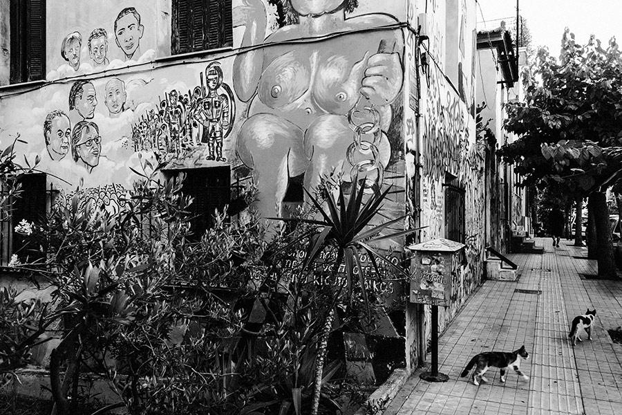 Athen, Griechenland (Mai 2017) - Exarchia