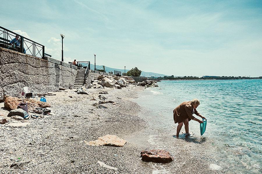 Athen, Griechenland (Mai 2017) - am Strand
