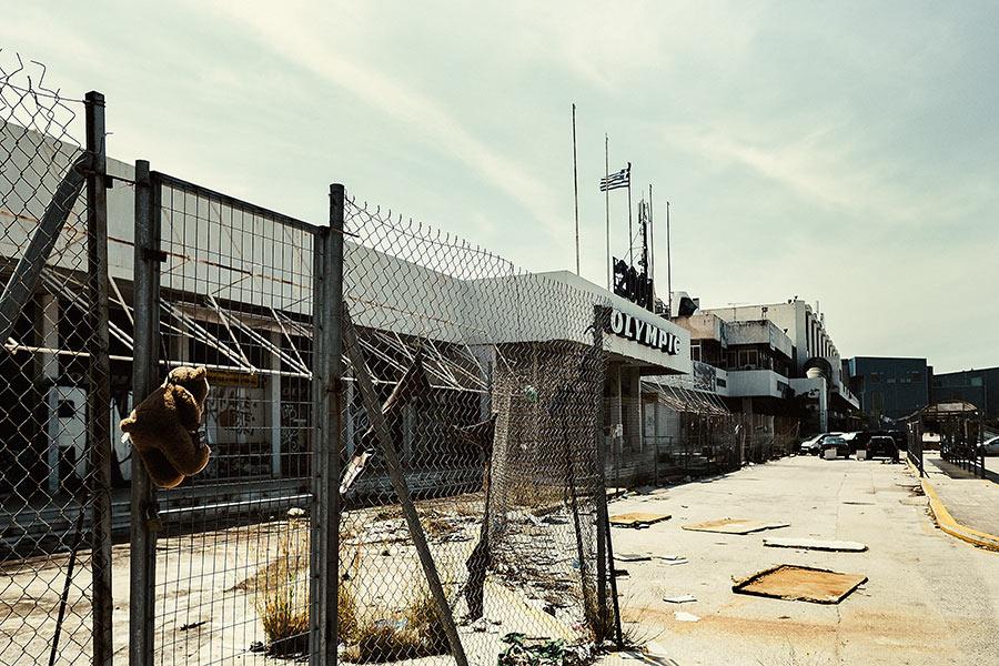 Athen, Griechenland (Mai 2017) - ehemaliger Athener Flughafen Hellenikon