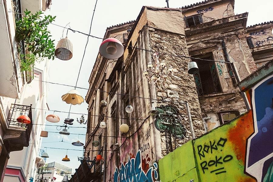 Athen, Griechenland (Mai 2017) - Monastiraki-Platz