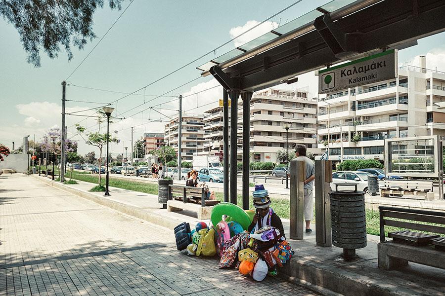 Athen, Griechenland (Mai 2017) - auf dem Weg zum Strand