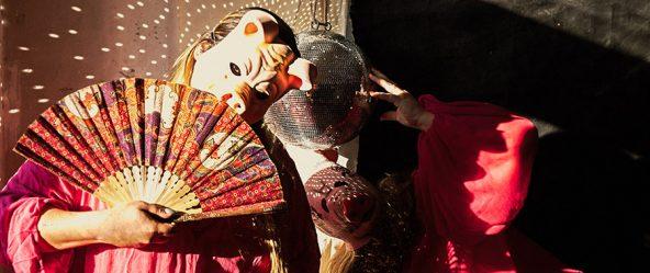 schwein maske fotokunst antje kröger adipositas pink